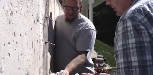 Polyurethane Injection into wall